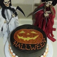 Halloween Orange & Chocolate Fudge Cake