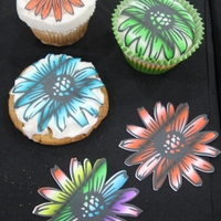 Fun Flower Using Print And Cut We made these in our office using our new Silhouette electronic cutter and our Icing Images edible printer! Using the SIlhouette program,...