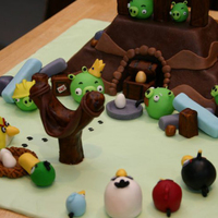 Angry Birds Cake This was a huge Angry Birds scene for my son's 10th birthday. Hard to just choose one photo, but I think this one captures most of it...