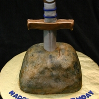 Sword In The Stone Birthday Cake