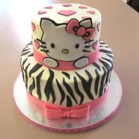 Hello Kitty! fondant hello kitty on buttercream.