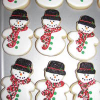 Snowman Sugar Cookies royal icing Snowman sugar cookies