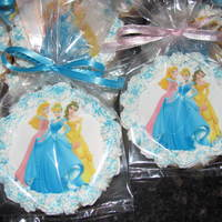 Disney Princesses sugar cookies with edible image
