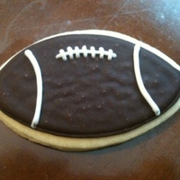 Football Cookies made for a bridal shower