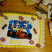 Race Car Cake race car cake with car candles