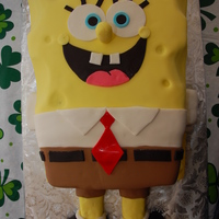 "Spongebob 2 11 x 15"" - Double Layer - Butter Pound Cake with Chocolate Mousse FillingCovered in Fondant and carved for small detail.Arms, legs,..."