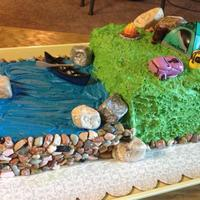 Rei Themed Outdoor Cake   rei themed outdoor cake