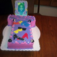 Birthday Fashion Little girl's cake, she wanted her picture on the cake