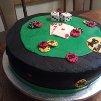 Casiino Casino cake for a 50th birthday