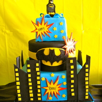 Batman Birthday This was for my son's 3rd birthday. All fondant with gumpaste accents and batman. Thanks for looking! :)