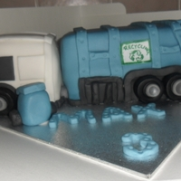 Garbage Truck Cake this huge cake made in vanilla sponge ... for max 3rd birthday