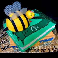 Books And Bees This cake was made for my cousin's baby shower. The theme was books and bees.