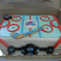 Hockey Rink Grooms Cake A grooms cake for my ex-husbands wedding :) Sounds odd, but I was honored to make it for him. This is his favorite team. He actually...