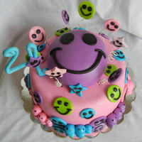 Smiley Face Birthday Cake This cake was custom requested by honorary niece turning 4. She wanted a smiley face cake and was very adamant about it, lol. This is what...