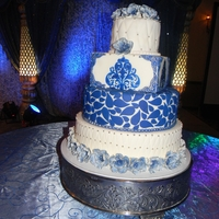 Indian Bridal Dress Design. Artisan cakes by Julie.This is the design on the bridal Indian dress.