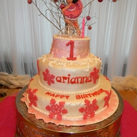 The Ballerina Is Made Out Of Gumpaste And Hand Painted Winter themeArtisan cakes by Julie
