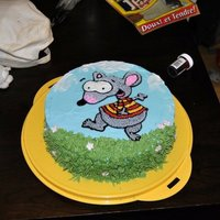 Toopy And Binoo! My 2yr old loves the show Toopy and Binoo. He had the most adorable look on his face when he saw this 'Birfday cake'