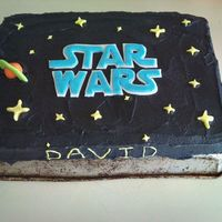Star Wars A cake I wipped up for my nephews impromptu Bday supper. He loved it! Super simple or not. :)
