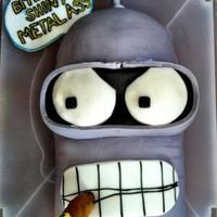Bender From Futurama A friends b-day cake. He loves Bender!