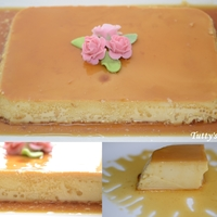 Flan I made this flan for a barbecue!