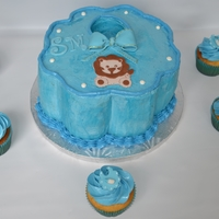 Baby Bib Cake This single tier cake was designed for the baby shower of my cousin's friend. It took me a long time to frost this design. I am so...