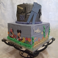 Collage Cake Made of things this girl loves!Top: NursingSides: Ocean, beach, sea creatures, Disney, Peds and NICU nurse.