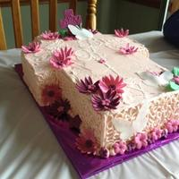 Cornelli Lace Communion Cake *