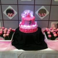 Sweet 1 Dancers Cake Sweet 16 Dancers Cake with Sage Lights