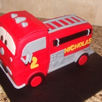 """red"" Fire Truck Fire truck cake made to look like Red from the movie cars. Thanks for looking."
