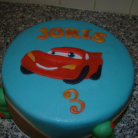 Lightning Mcqueen made McQueen from layered Marzipan.