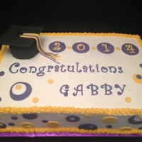 "Grad Cake Neopolitian Style 11X15X4 12 Two Layers Of Dark Chocolate Cake With Whipped Ganache In Between A Layer Of Cream Cheese Icin Grad Cake neopolitian style. 11'x15""x4-1/2"". Two layers of dark chocolate cake with whipped ganache in between, a layer of..."