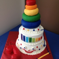 Inspiration Came From The Fisher Price 80Th Anniversary Cake And General Fisher Price Toys Themselves Done For A Baby Shower That Had A Rai... Inspiration came from the Fisher Price 80th anniversary cake and general Fisher Price toys themselves. Done for a baby shower that had a...
