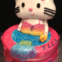"Hello Kitty Mermaid Birthday Cake Chocolate Amp Fudge Cake With Oreo Filling Head Made From Rkt 9 Pool Hello Kitty Mermaid Birthday Cake.Chocolate & Fudge Cake with Oreo Filling. Head made from RKT.9"" Pool."
