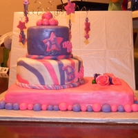 Pink And Purple Birthday Cake