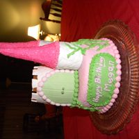 Cinderella's Castle The castle is an 8 inch cake. To make the towers, I baked cake in soup cans and the pinnacles are ice cream cones dipped in buttercream and...