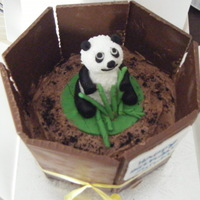 Panda Cake I got this idea from someone on here (sorry i do not remember the name) Vanilla sponge, Strawberry jam and chocolate fudge for the mud!!...