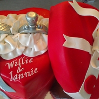 Anniversary Heart Ring Box Cake