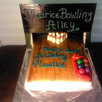 Maurice's Bowling Alley Birthday Cake /june 6, 2013 Bowling Alley Cake