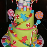 Candyland Cake All fondant decorations