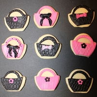 Pink And Black Sugar Cookie Shoes And Purses