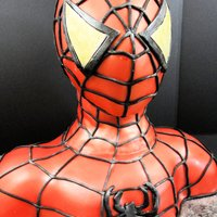 Spiderman Birthday Cake Birthday cake for a 5 year old. Head is made of rice krispy treats.
