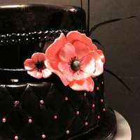 Black Elegance Birthday Cake This cake was red velvet with white chocolate cream cheese.