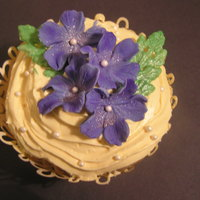 1319230960.jpg Sugar-free blossom cupcake for a 90th birthday party.