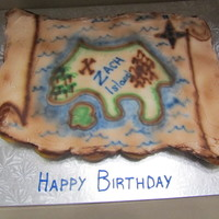 Treasure Map  My first pull-apart cupcake cake. The mother had Jake and the Neverland Pirates figures to put on the map at the party. Good practice with...