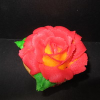 A Rose For My Sweetheart   All buttercream icing. I made two dozen for a bake sale at work on Valentine's Day.