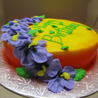 Tropical Treat   Pina Colada cake with coconut icing. Mostly just playing around with my airbrush.