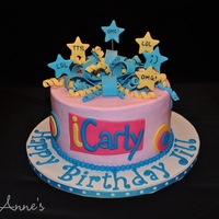 Icarly Birthday Cake Buttercream cake with fondant accents