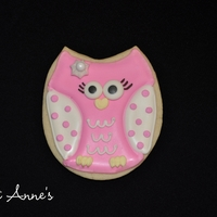 Pink Owls Buttery sugar cookies decorated with royal icing