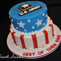 U.s. Army Cake Buttercream cake with fondant accents