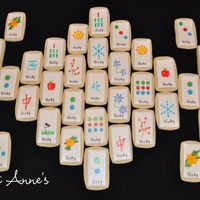 Mahjong Cookie Tiles Buttery sugar cookies with royal icing decorated with edible markers!